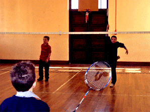 Photo of children playing badminton